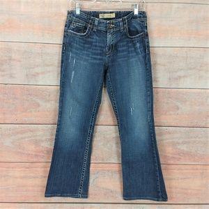 BKE Wendi Stretch Destroyed Bootcut Jeans Blue